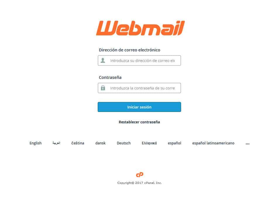 como cambiar la contraseña de correo webmail